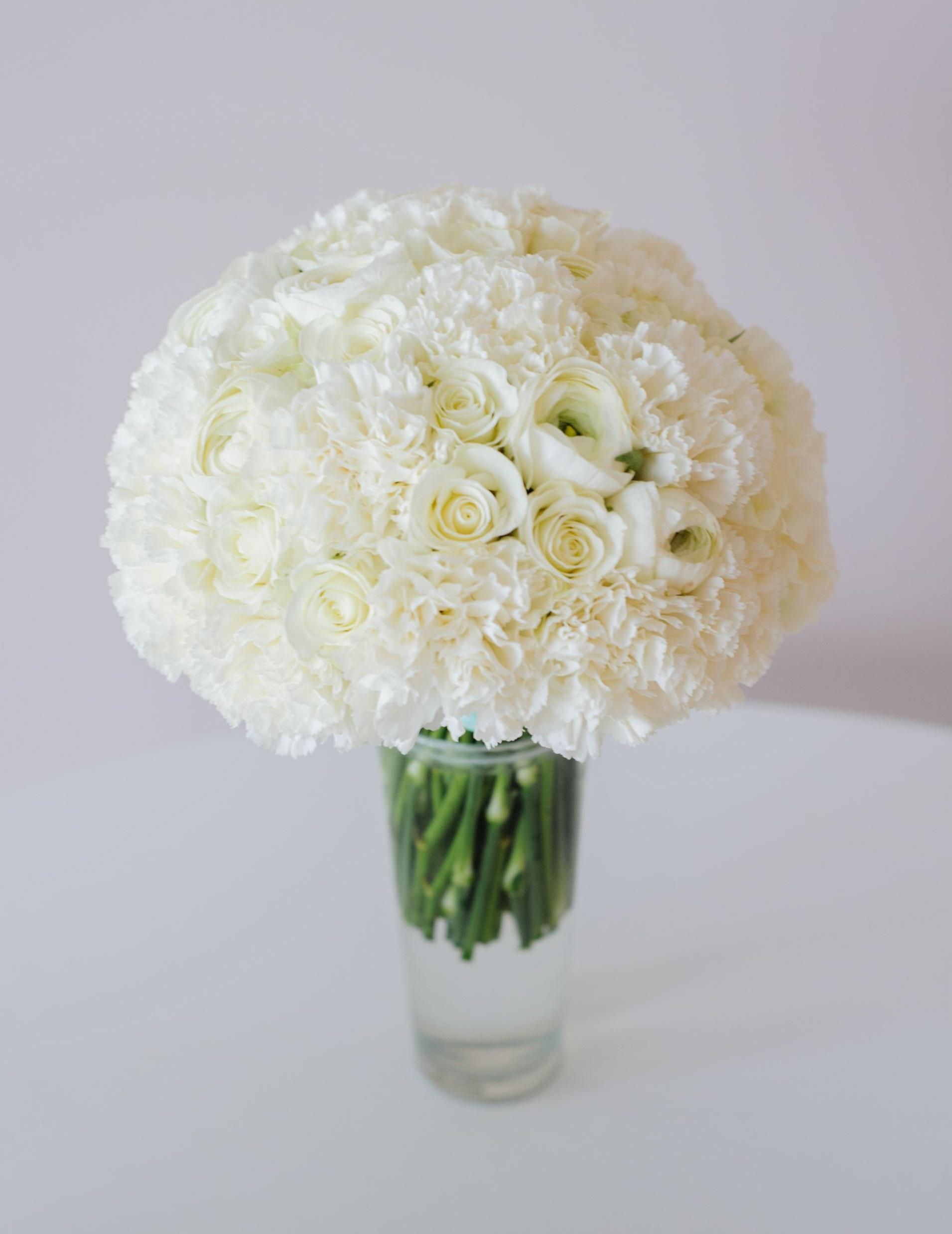 классический букет невесты белого цвета