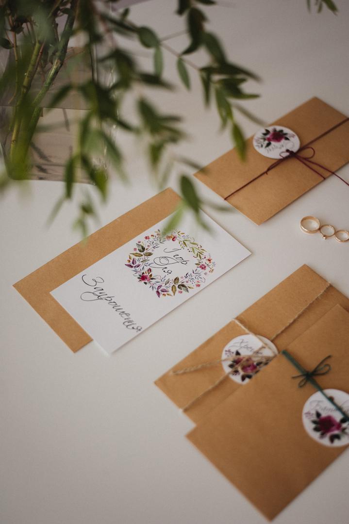 пригласительные ручной работы на свадьбу в стиле эко