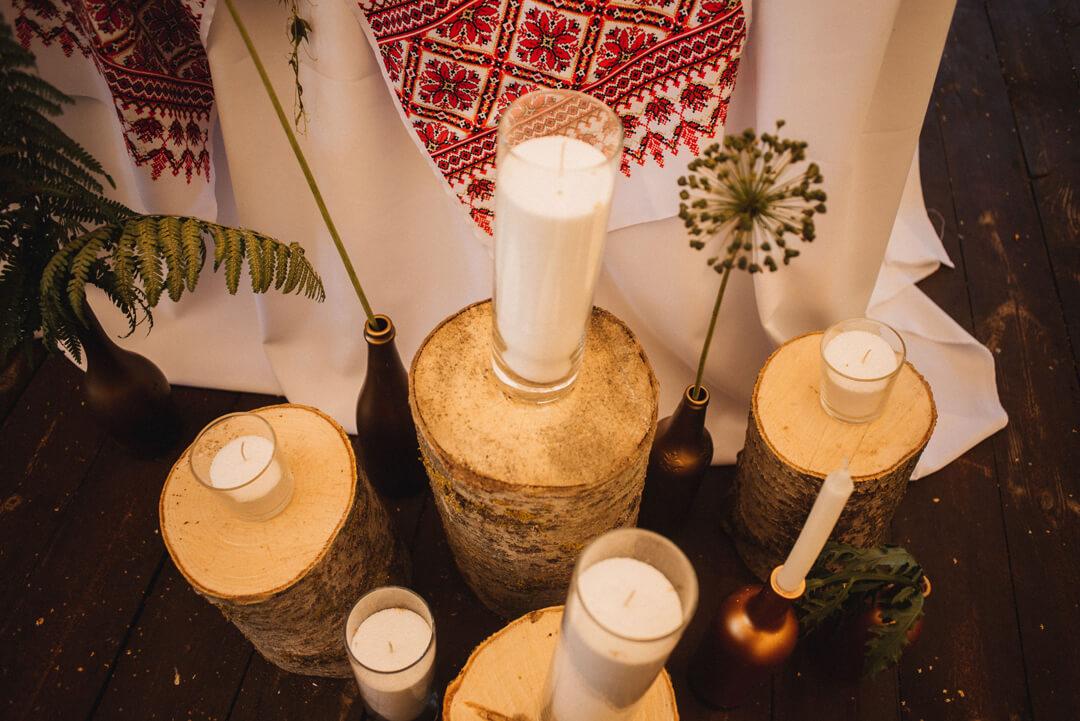 декор загородной свадьбы в стиле эко