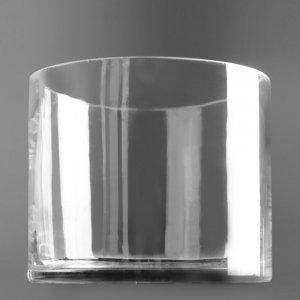"""Прокат цилиндрической стеклянной вазы. """"Pion Bouton"""" - Киев."""