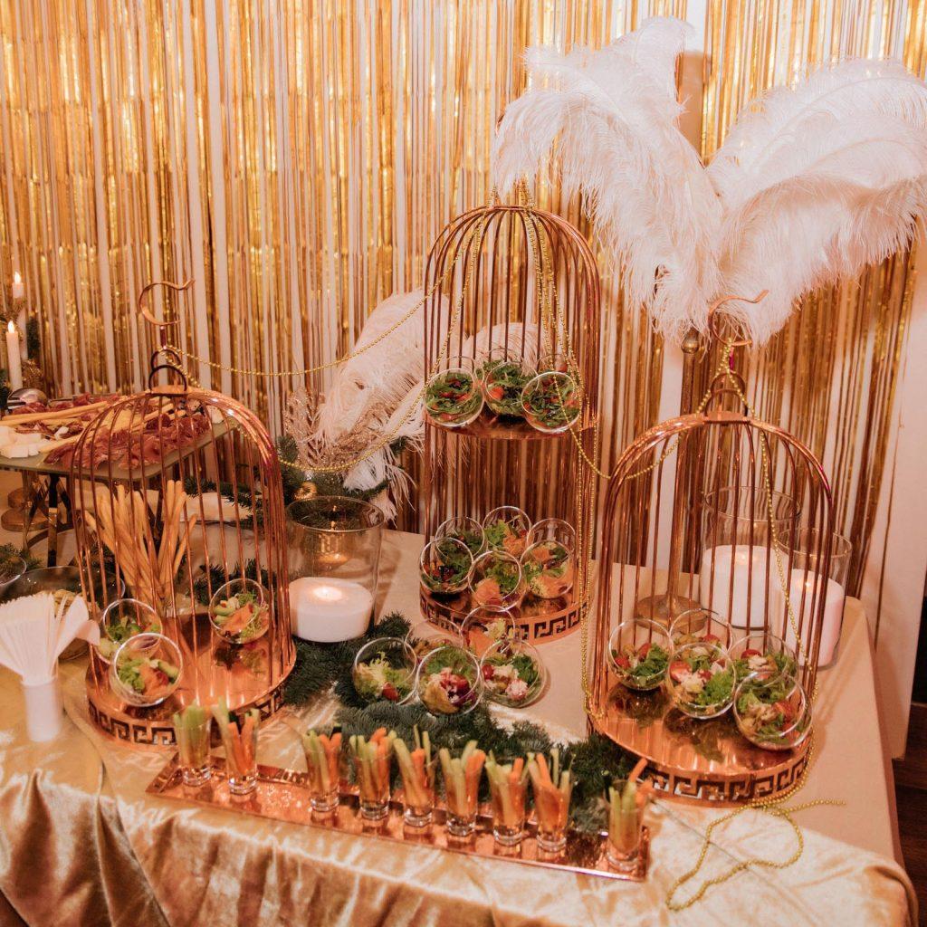Шведский стол в стиле Великий Гэтсби