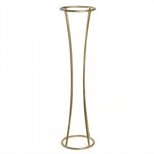 Металлическая золотая стойка для цветов в аренду.