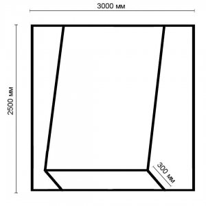 Схема каркаса для фотозоны.