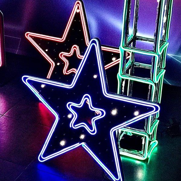 Неоновые светящиеся звезды