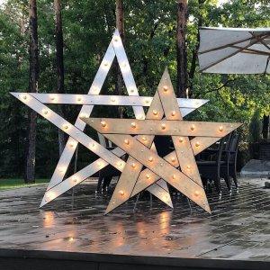 Звезда с лампочками 1,5 и 1,8 м.
