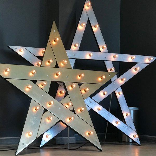 Звезды с лампочками.