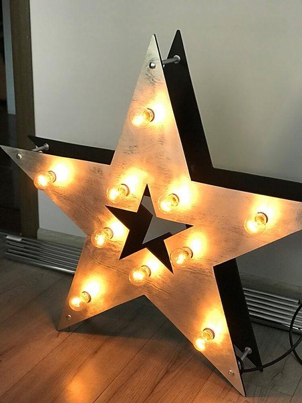 Звезда с лампочками.