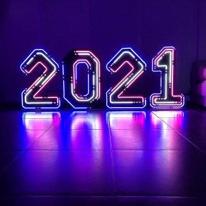 """Неоновые цифры """"2021"""""""