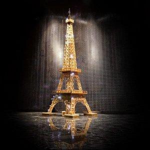 Эйфелева башня золотого цвета